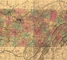 Vintage Tennessee Railroad Map (1888) Sticker