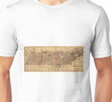 Vintage Tennessee Railroad Map (1888) Unisex T-Shirt