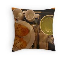 BREAKFAST AND DINNER  Throw Pillow