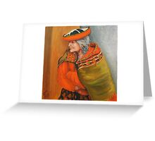 Old Lady From Cusco Peru Greeting Card