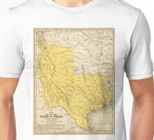 Vintage Map of Texas (1847) Unisex T-Shirt