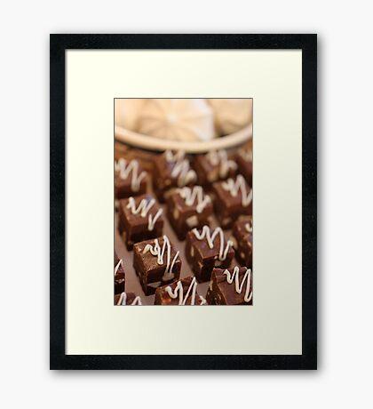fudge & meringue  Framed Print