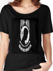 POW/MIA Flag Women's Relaxed Fit T-Shirt