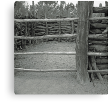 Small Corral Canvas Print