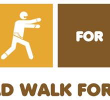 The Dead Walk for Brains Sticker