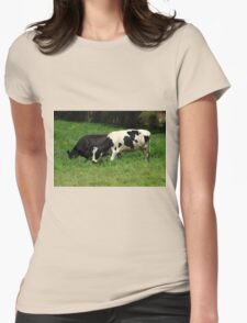 Cows in a Field Womens Fitted T-Shirt