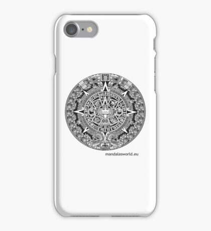 Mayan Calendar Dark iPhone Case/Skin