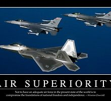 Air Superiority: Inspirational Quote and Motivational Poster by StocktrekImages