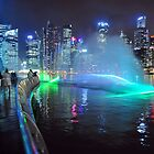 Marina Bay, Singapore at night.  by Ralph de Zilva