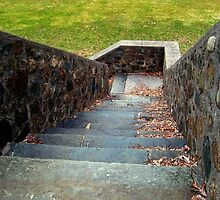 Stone Steps Down To Boonton Gorge/ Grace Lord Park [New Jersey] by Jane Neill-Hancock