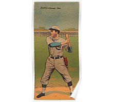 Benjamin K Edwards Collection John Evers Frank Chance Chicago Cubs baseball card portrait Poster