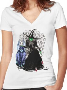 Elphaba The Wicked.  Women's Fitted V-Neck T-Shirt