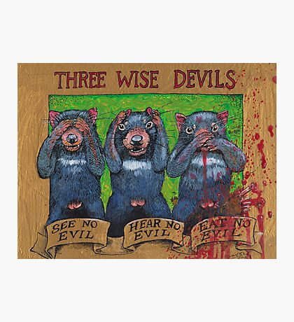 three wise devils Photographic Print