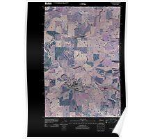 USGS Topo Map Washington State WA Palouse 20110406 TM Inverted Poster