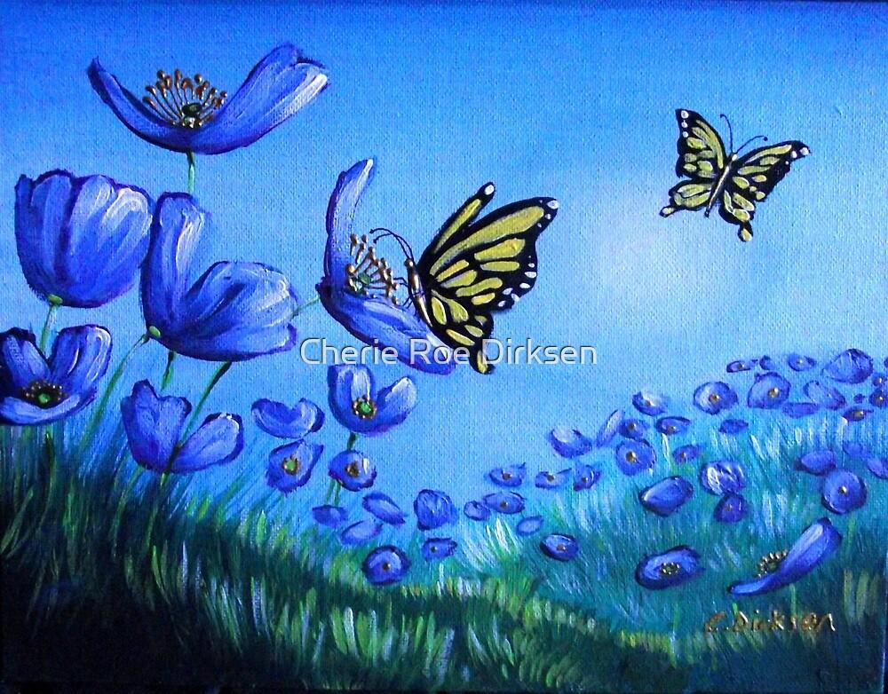 Blue Poppies in the Meadow by Cherie Roe Dirksen