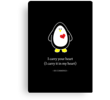 I Carry Your Heart With Me Canvas Print
