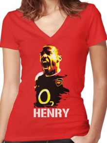 Thierry Henry Arsenal's Legend Women's Fitted V-Neck T-Shirt