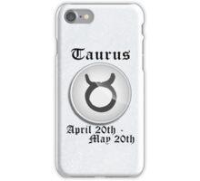 Taurus Zodiac Sign iPhone / iPod Cover - White iPhone Case/Skin