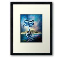 BLUE SIREN Framed Print