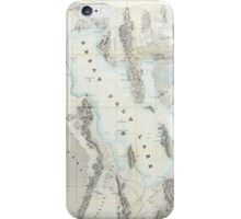Vintage Map of The Great Salt Lake (1852) iPhone Case/Skin
