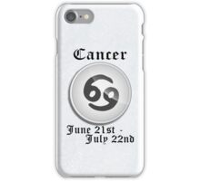 Cancer Zodiac Sign iPhone / iPod Cover - White iPhone Case/Skin