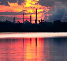 Industrial Sunset by TraceySpankus