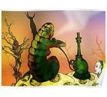 Alice and the Hookah Smoking Caterpillar Poster