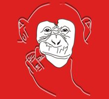 Chimpanzee T-shirt the thinker by parko