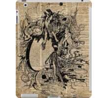 Vintage Fairies Magic Illustration Antique Ink Artwork Dictionary Book Page Art iPad Case/Skin