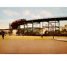 Elevated Train at 110th Street NYC Photo-Print Photographic Print