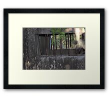 North Head Manly - Bars of a Army holding cell Framed Print