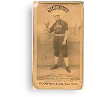 Benjamin K Edwards Collection Emil Geiss Chicago White Stockings baseball card portrait 002 Canvas Print