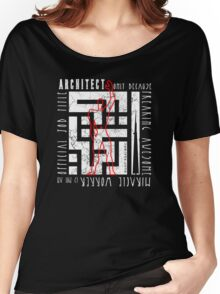 Arabic Typography Architect Women's Relaxed Fit T-Shirt