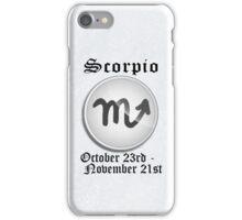 Scorpio Zodiac Sign iPhone / iPod Cover - White iPhone Case/Skin