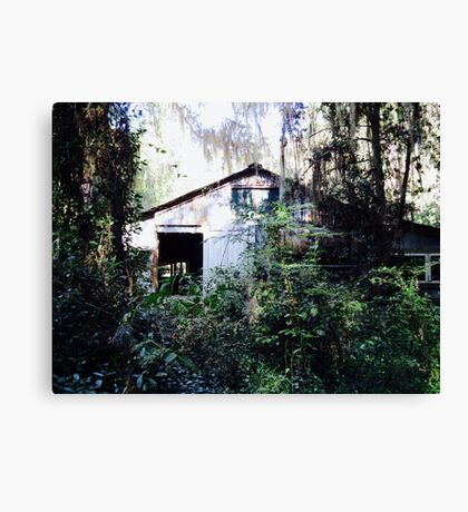 Once Upon a Time, There was a House in the Forest Canvas Print