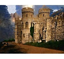 Beautiful Britain - The Norman Gate, Windsor Castle in 1897 Photographic Print