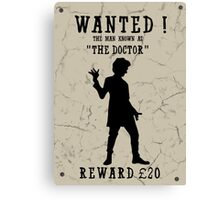 Wanted (Doctor Who) Canvas Print
