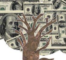 Money Don't Grow On Trees Sticker