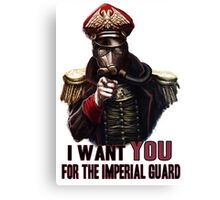 Warhammer Imperial Guard Canvas Print