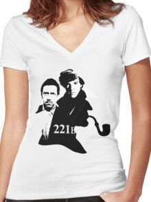 Residents of 221B Women's Fitted V-Neck T-Shirt