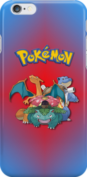 Pokemon - Charizard, Venusaur, Blastoise iPhone / iPod Cover by Aaron Campbell