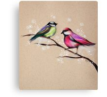 Magical Birds of The Faery Realm Canvas Print