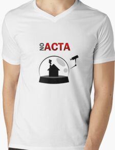 No ACTA Mens V-Neck T-Shirt
