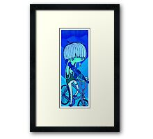 Irony of the blues Framed Print