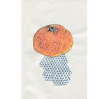 an orange Photographic Print