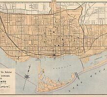 Vintage Map of Toronto (1906) by BravuraMedia