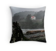 Fog At Heceta Head Throw Pillow