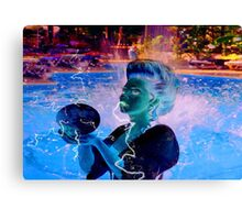 Electric Swimmer Canvas Print