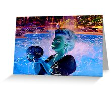 Electric Swimmer Greeting Card