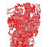 Red Public Saxophone by KIDTIKI